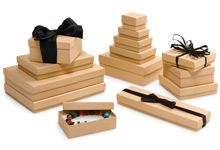 Nashville Wraps Recycled Brown Kraft Jewelry Gift Boxes