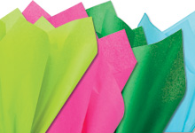 Nashville Wraps 100% Recycled Assorted Color Tissue Paper 15X20