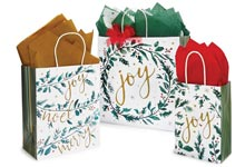 Nashville Wraps Silver and Red Christmas Snowflakes Bags