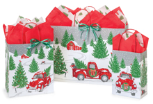 Tree Farm Christmas Red Truck Gift Bags Nashville Wraps