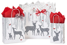 Woodland Frost Paper Shopping Bags