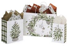Nashville Wraps Pine Holiday Christmas Bags