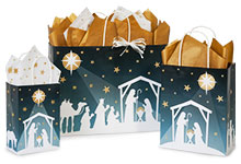 Nativity Star Paper Shopping Bags