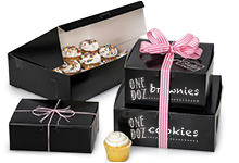 Nashville Wraps Black Gloss Bakery Boxes