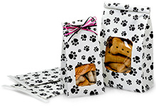 Paw Print Tin Tie Bags