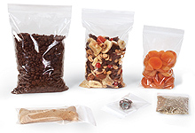 Clear Poly Zip Top Bags