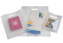 Frosted Plastic Merchandise Bags