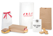 Nashville Wraps Kraft and White Paper Bags