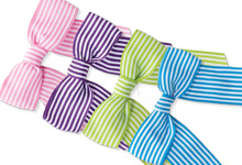 Pre-Tied Striped Gift Bows