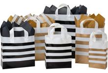 Bold Stripe Plastic Gift Bags