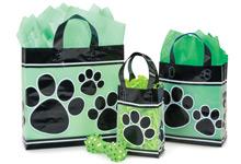 Paw Print Plastic Gift Bags