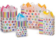 Nashville Wraps Rainbow Stripe Plastic Gift Bags