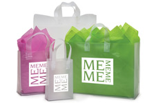Nashville Wraps Frosted Clear Plastic Gift Bags