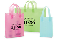Frosted Color Plastic Gift Bags