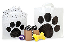 Paw Print Frosted Studio Shopping Bags