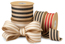 Burlap Stripes Ribbon