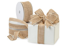 Nashville Wraps Wired Burlap Pearl Edge Ribbon