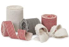 Nashville Wraps Linen Stripe Fringe Ribbon