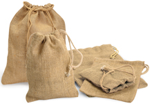 Nashville Wraps natural burlap bags