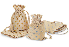 Nashville Wraps polka dot cotton favor bags