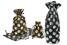 Nashville Wraps Bold Metallic Dot Cotton Bags