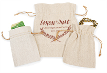 Nashville Wraps linen gift bag drawstring pouches