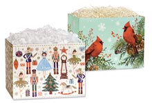 Nashville Wraps Christmas Print Gift Basket Boxes