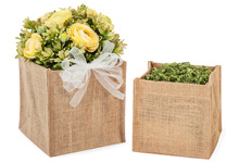 Nashville Wraps Burlap Containers for Gift Baskets and Floral Arrangements