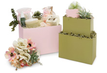 Nashville Wraps Solid Color Gift Basket Boxes