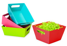 Wide Base Color Market Trays
