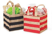Burlap Stripe Bag Container