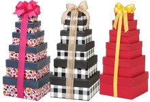 Nashville Wraps USA Nested Gift Tower Boxes