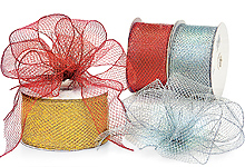 Nashville Wraps Wired Metallic Stretch Ribbon