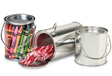 Nashville Wraps Clear & Solid Tin Pails