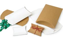Nashville Wraps Kraft and White Pillow Gift Boxes