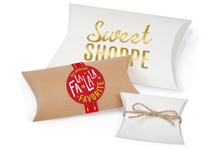 Kraft & White Pillow Boxes