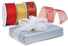 Nashville Wraps Wired Glitter Swirl Sheer Ribbon