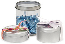 Tins with Clear Lids