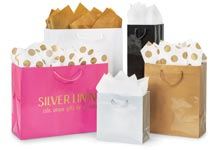 Nashville Wraps Customizable Deluxe Gloss Color Paper Gift Bags with Cord Handles