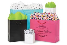 Digitally Print Your White Kraft Paper Shopping Bags