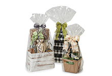 Nashville Wraps Basket Size 1.2 Mil Clear Cello Bags