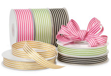 Nashville Wraps Striped Grosgrain Ribbon
